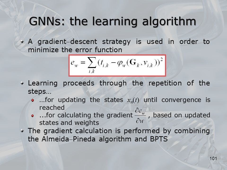 GNNs: the learning algorithm