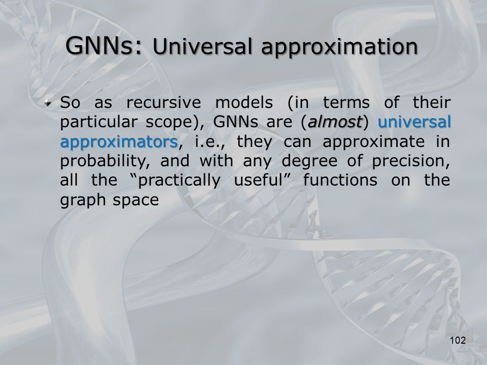 GNNs: Universal approximation