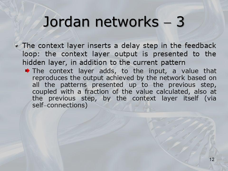 Jordan networks  3