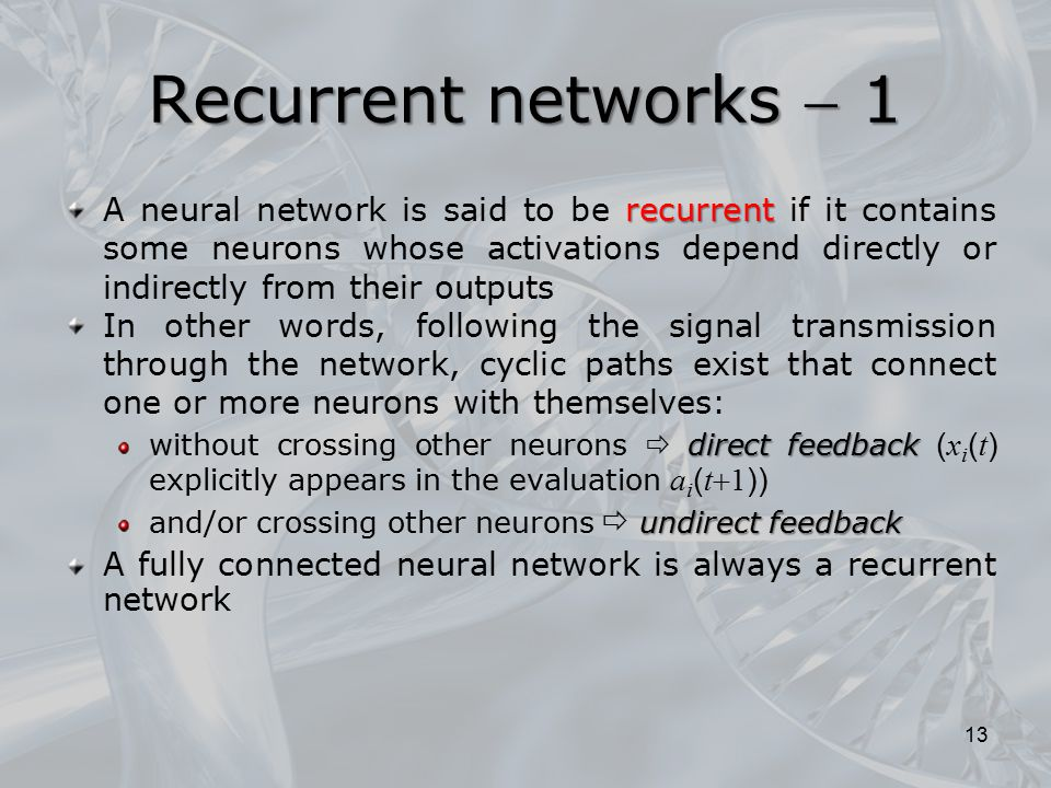 Recurrent networks  1