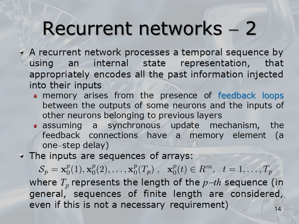 Recurrent networks  2