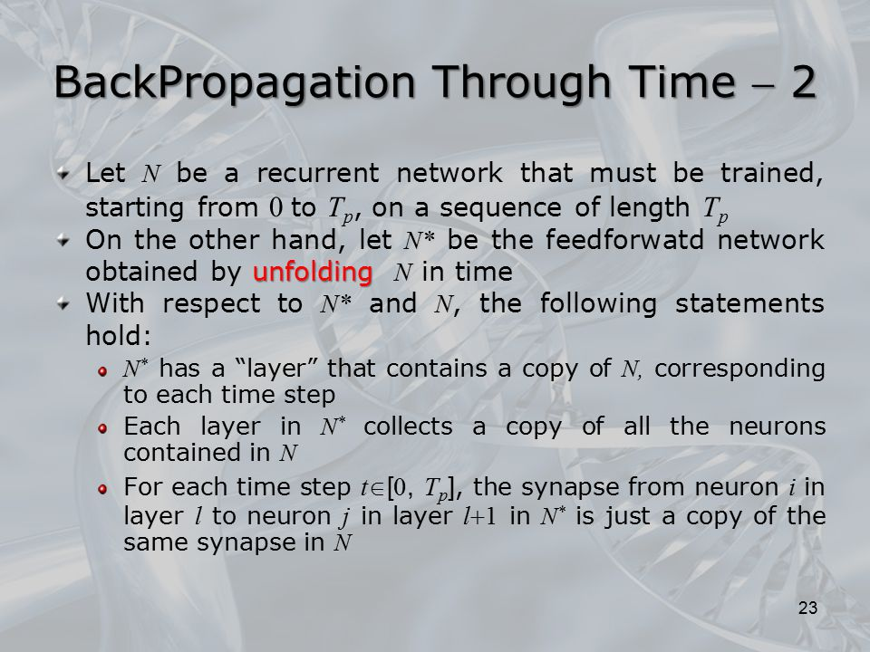 BackPropagation Through Time  2