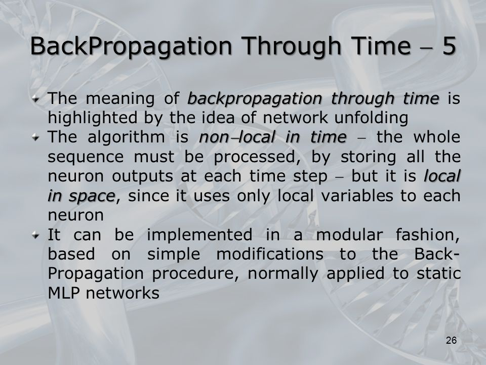 BackPropagation Through Time  5