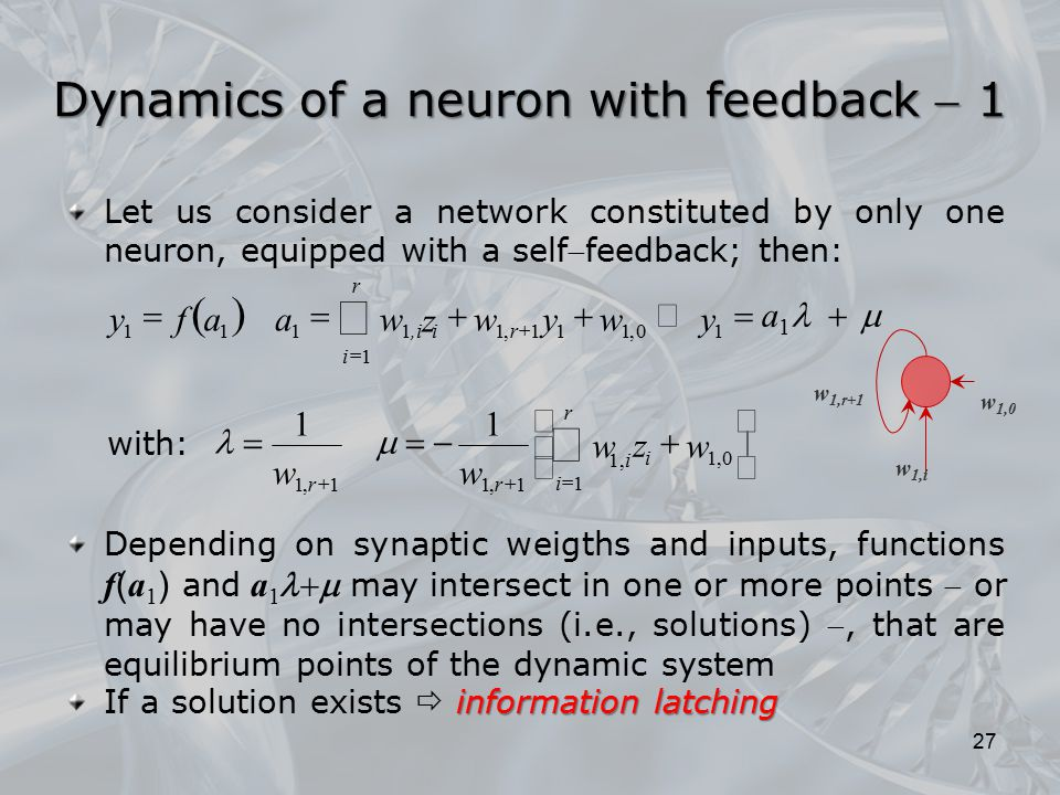 Dynamics of a neuron with feedback  1