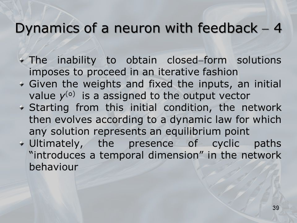 Dynamics of a neuron with feedback  4