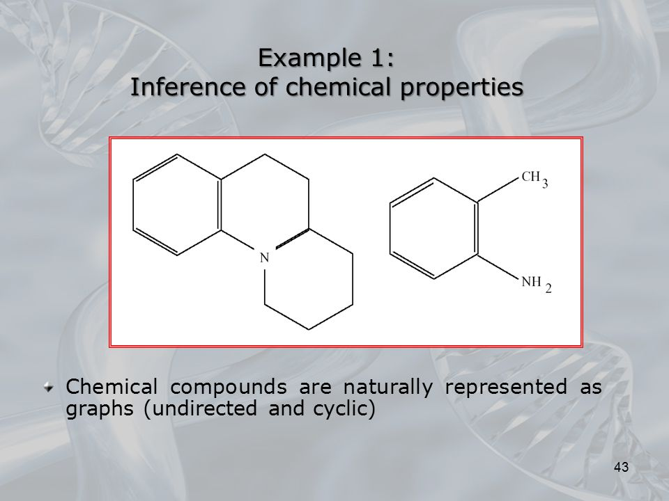 Example 1: Inference of chemical properties