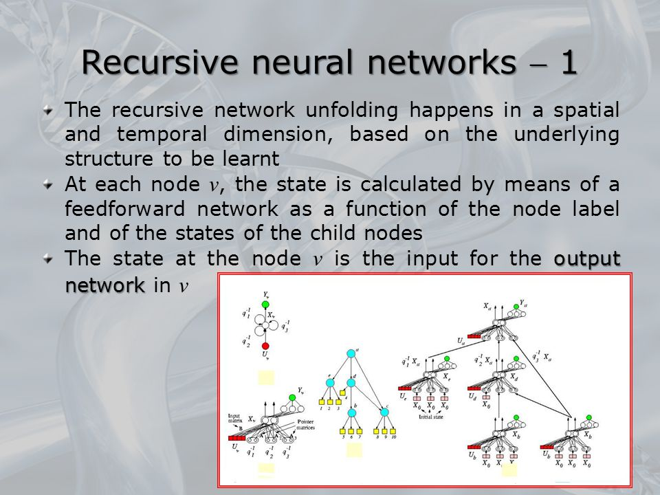 Recursive neural networks  1
