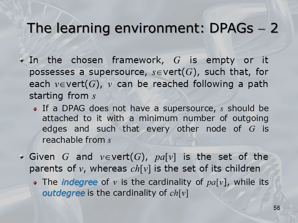 The learning environment: DPAGs  2