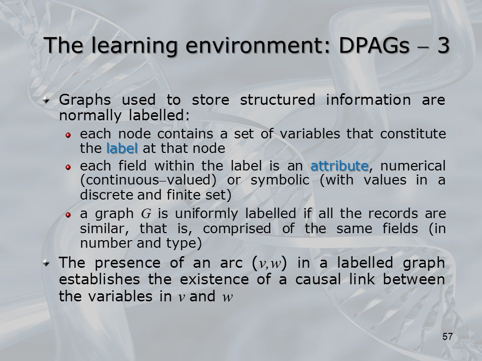 The learning environment: DPAGs  3