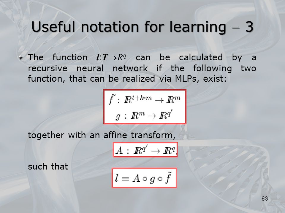 Useful notation for learning  3