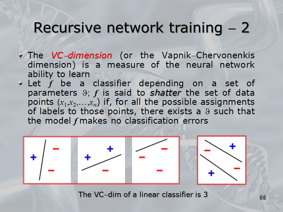 Recursive network training  2
