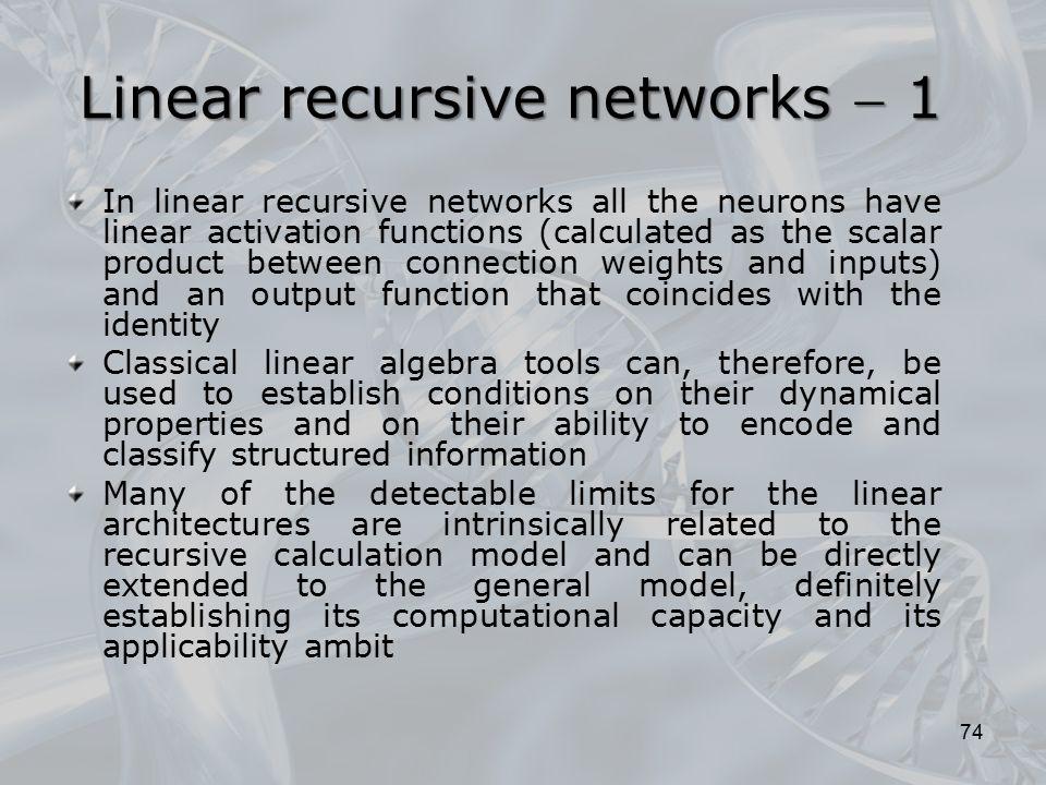 Linear recursive networks  1