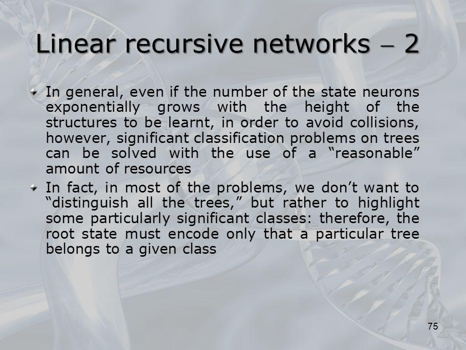 Linear recursive networks  2