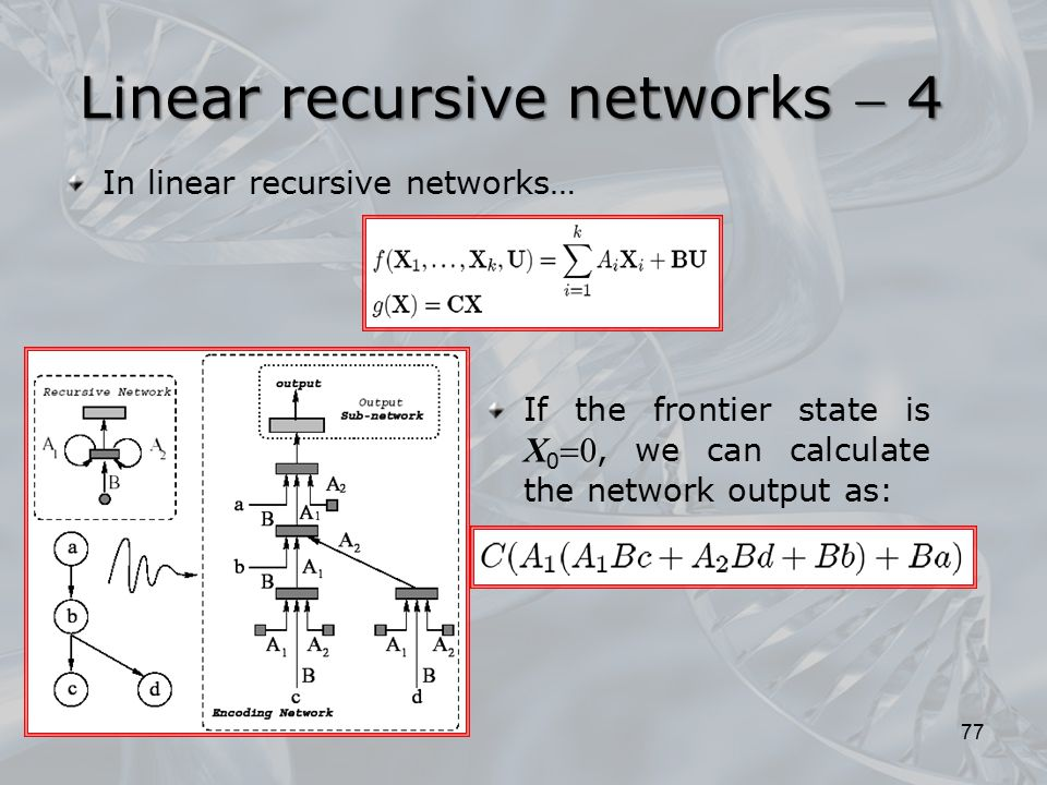 Linear recursive networks  4