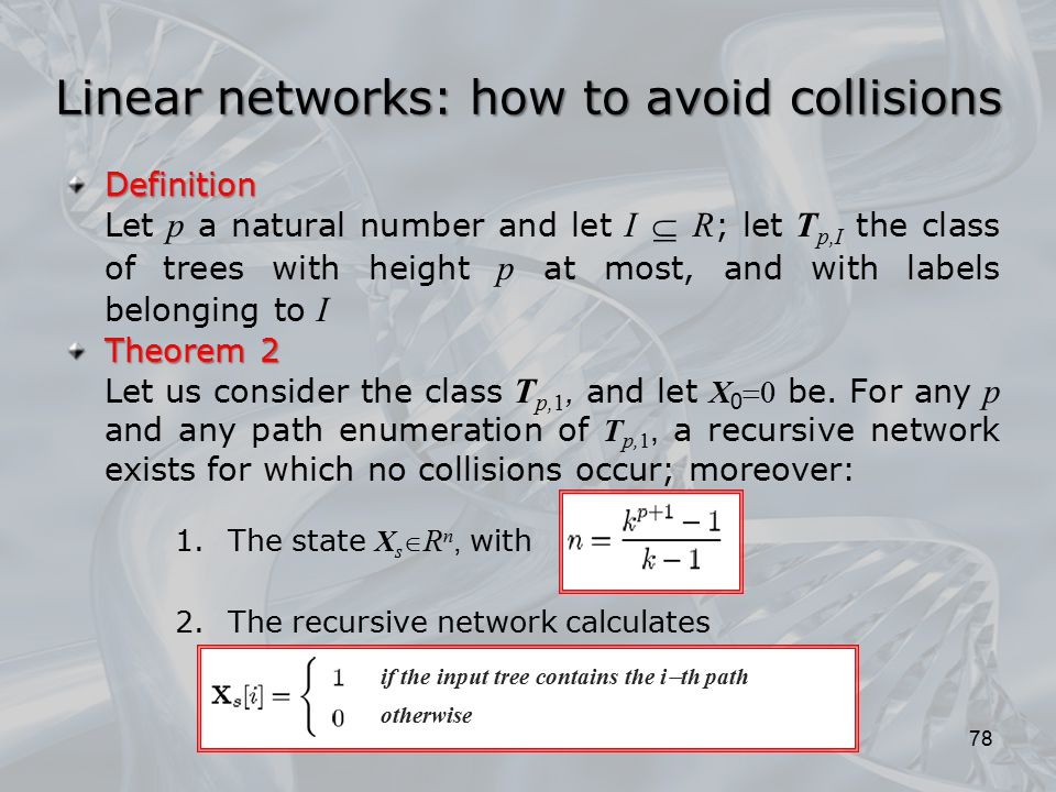 Linear networks: how to avoid collisions
