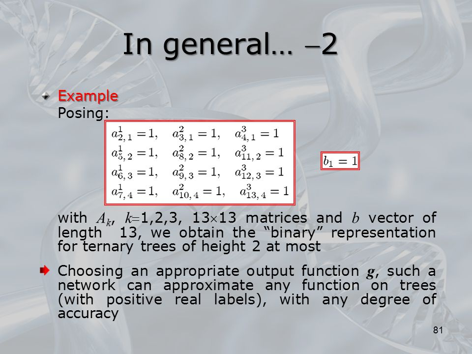 In general… 2 Example Posing: