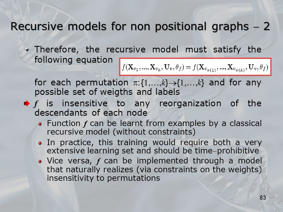 Recursive models for non positional graphs  2