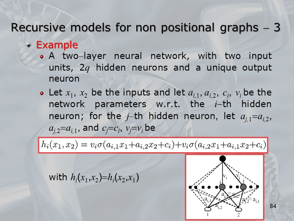 Recursive models for non positional graphs  3
