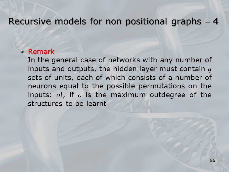 Recursive models for non positional graphs  4