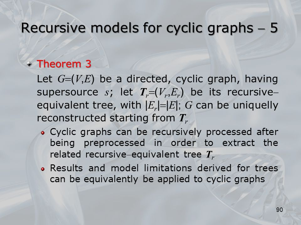 Recursive models for cyclic graphs  5