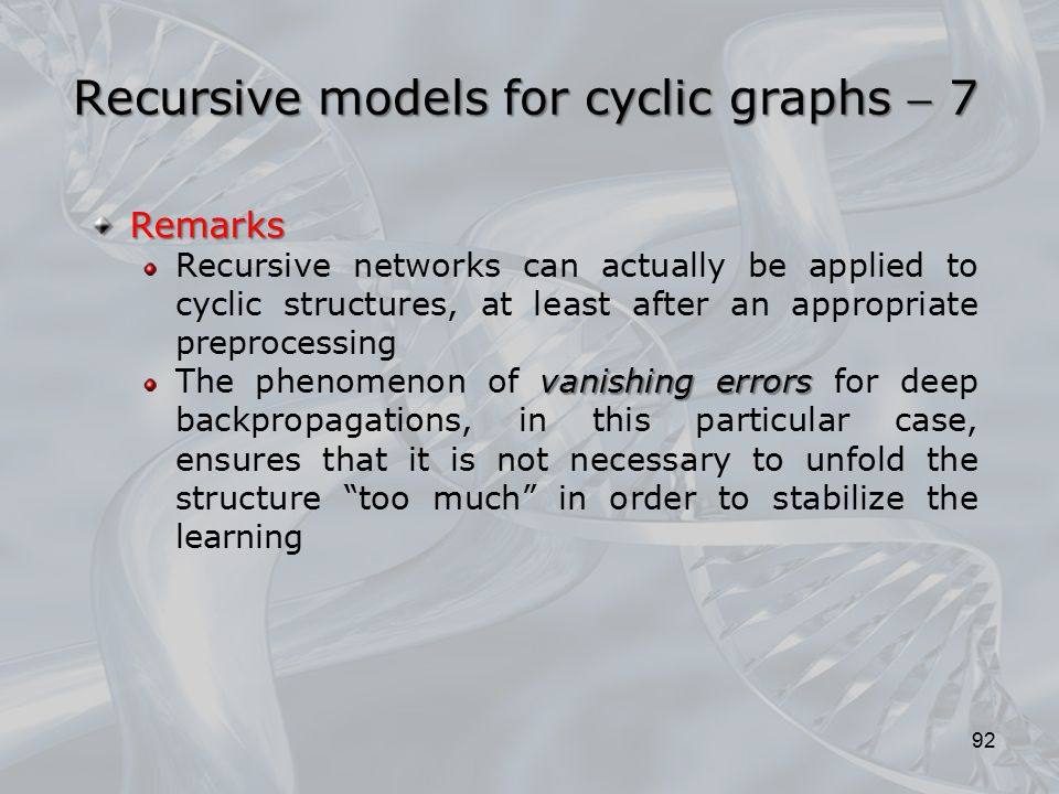 Recursive models for cyclic graphs  7