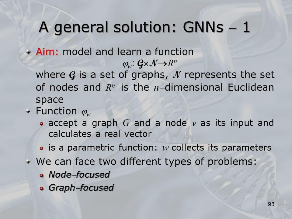 A general solution: GNNs  1