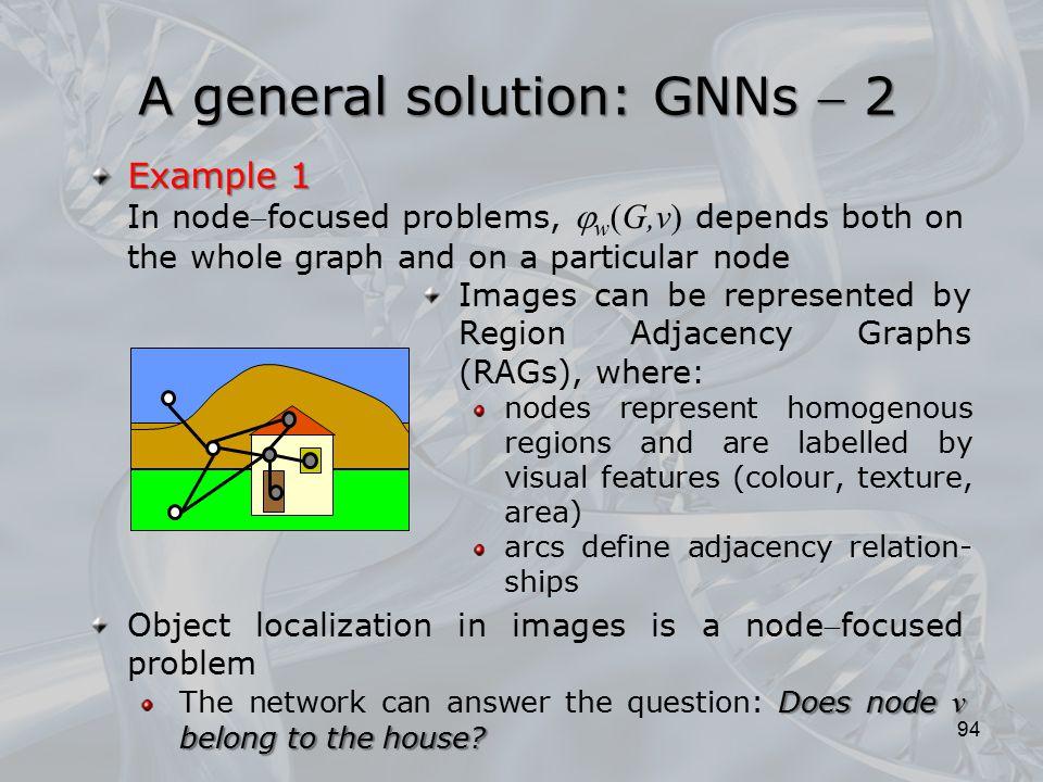 A general solution: GNNs  2