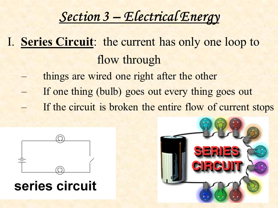 Section 3 – Electrical Energy