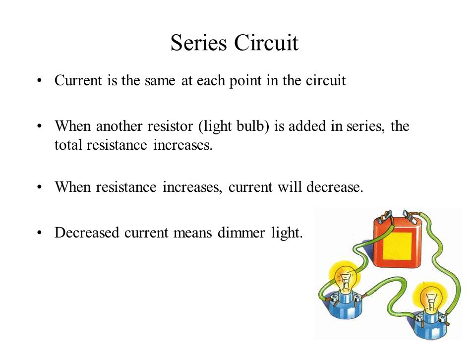Series Circuit Current is the same at each point in the circuit