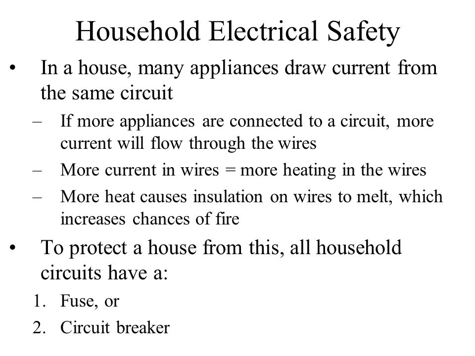 Household Electrical Safety