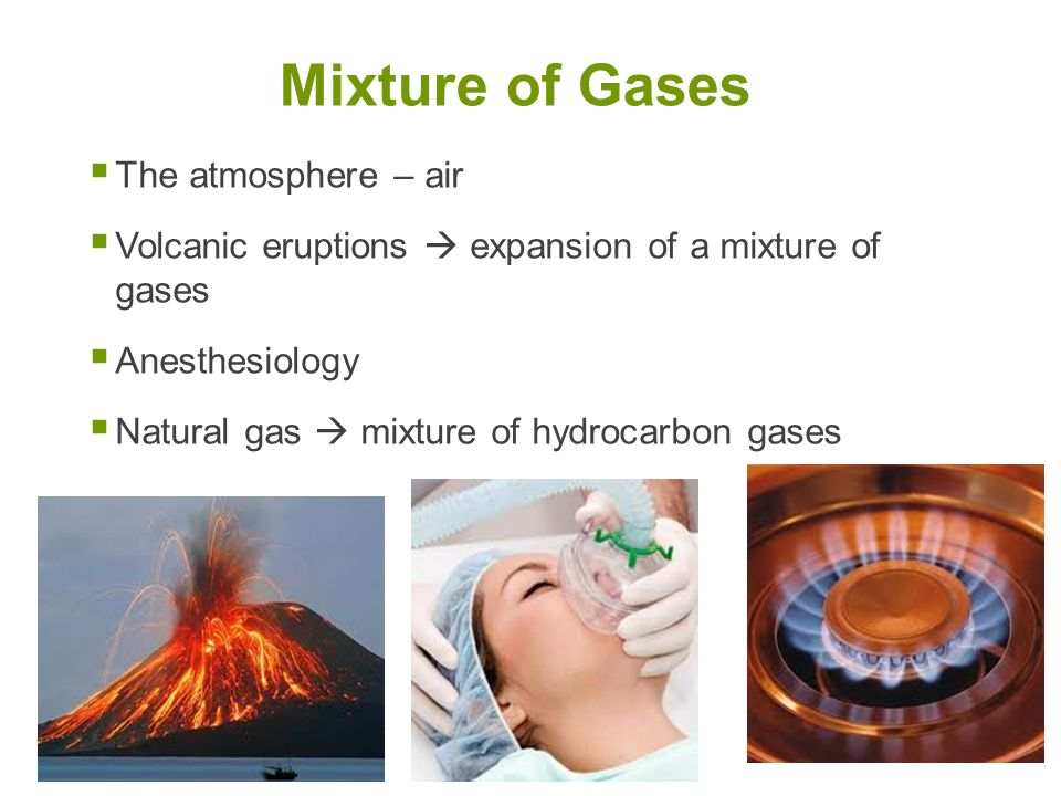 Mixture of Gases The atmosphere – air