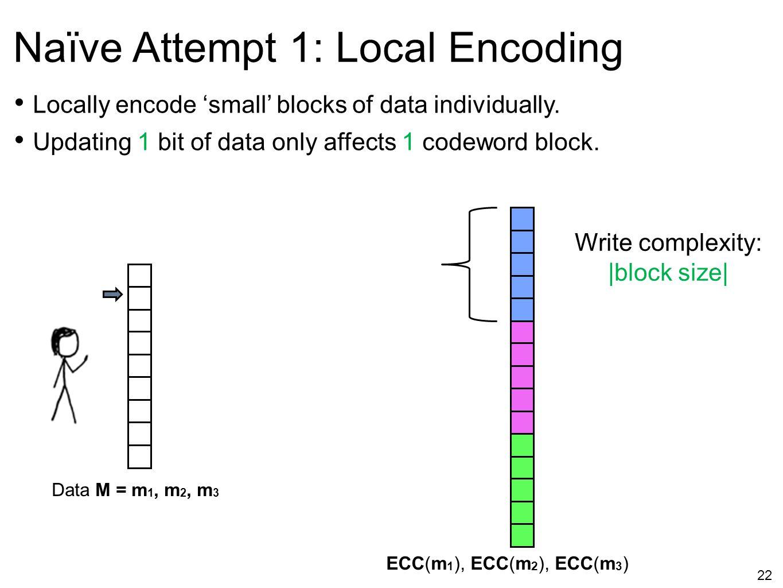 Naïve Attempt 1: Local Encoding