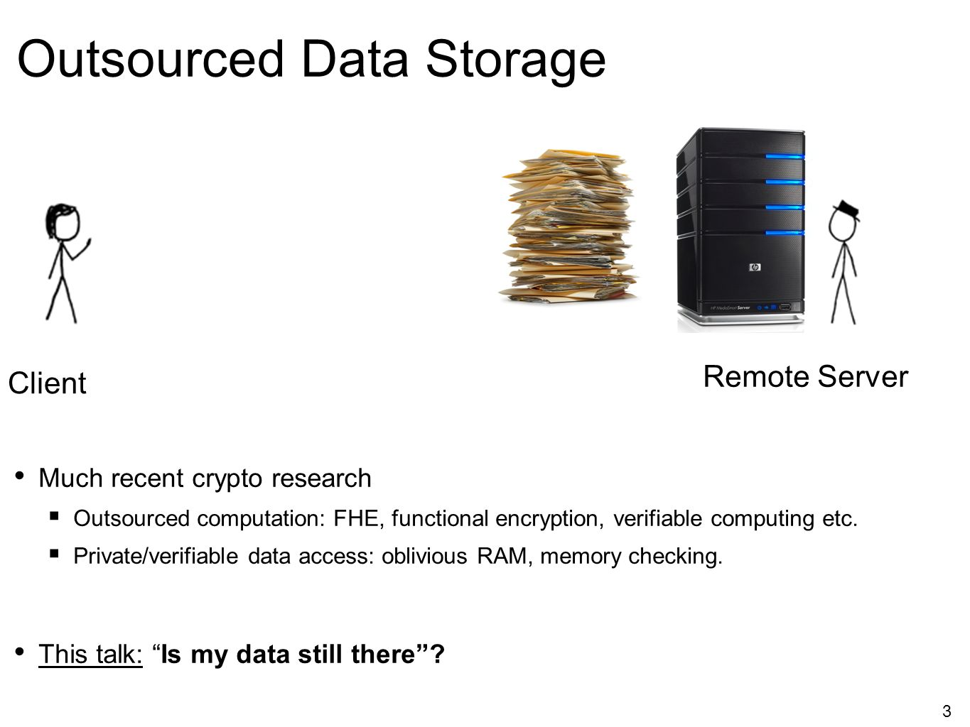 Outsourced Data Storage