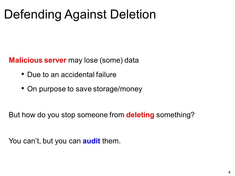 Defending Against Deletion