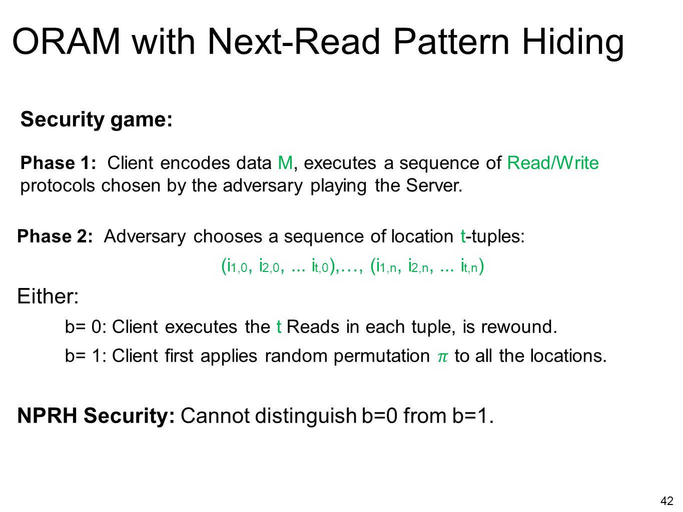 ORAM with Next-Read Pattern Hiding