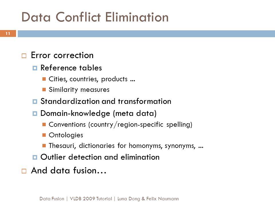 Data Conflict Elimination