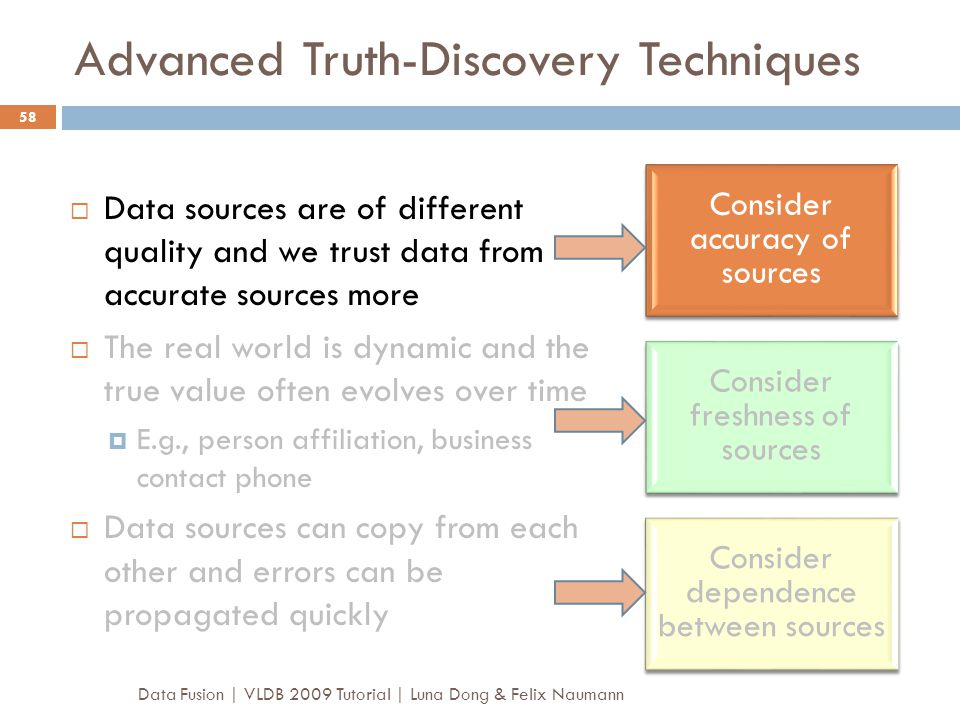 Advanced Truth-Discovery Techniques
