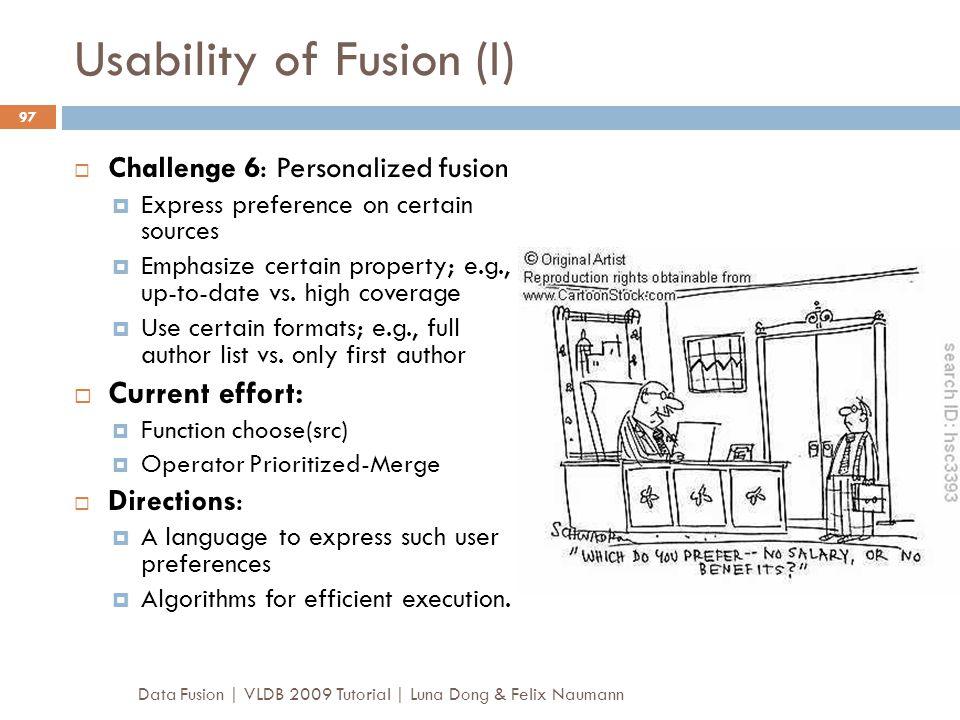 Usability of Fusion (I)