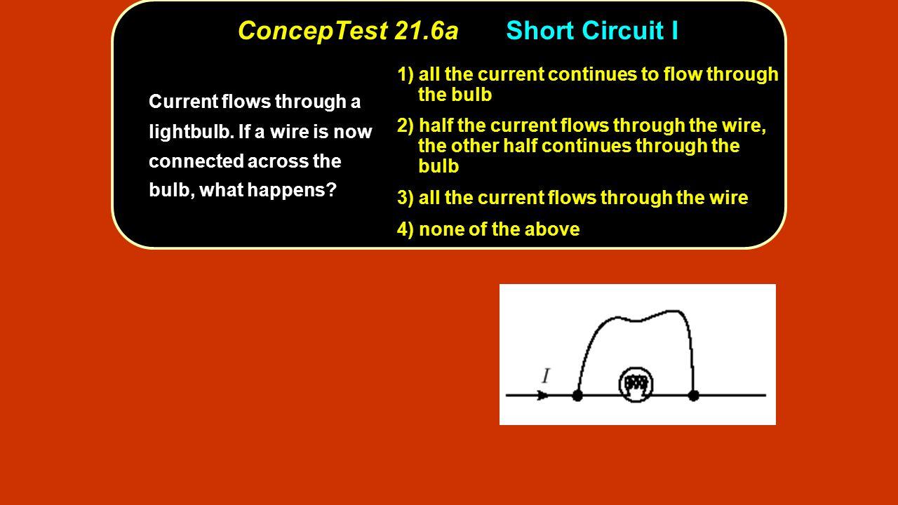 ConcepTest 21.6a Short Circuit I