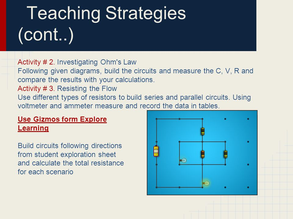 Teaching Strategies (cont..)