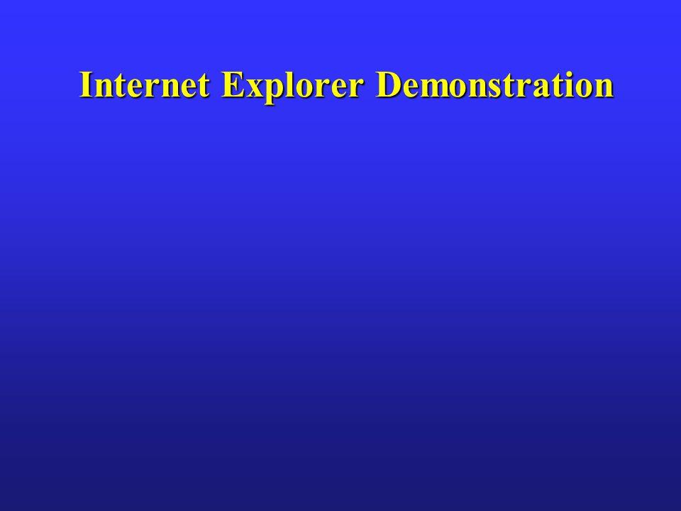 Internet Explorer Demonstration