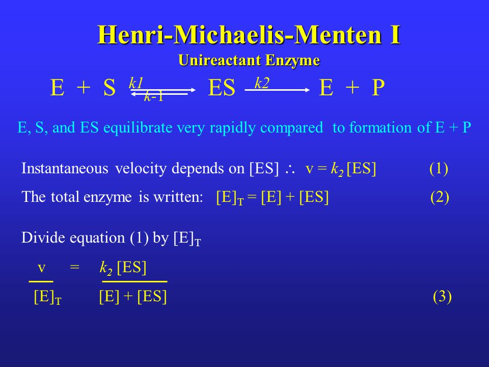 Henri-Michaelis-Menten I Unireactant Enzyme