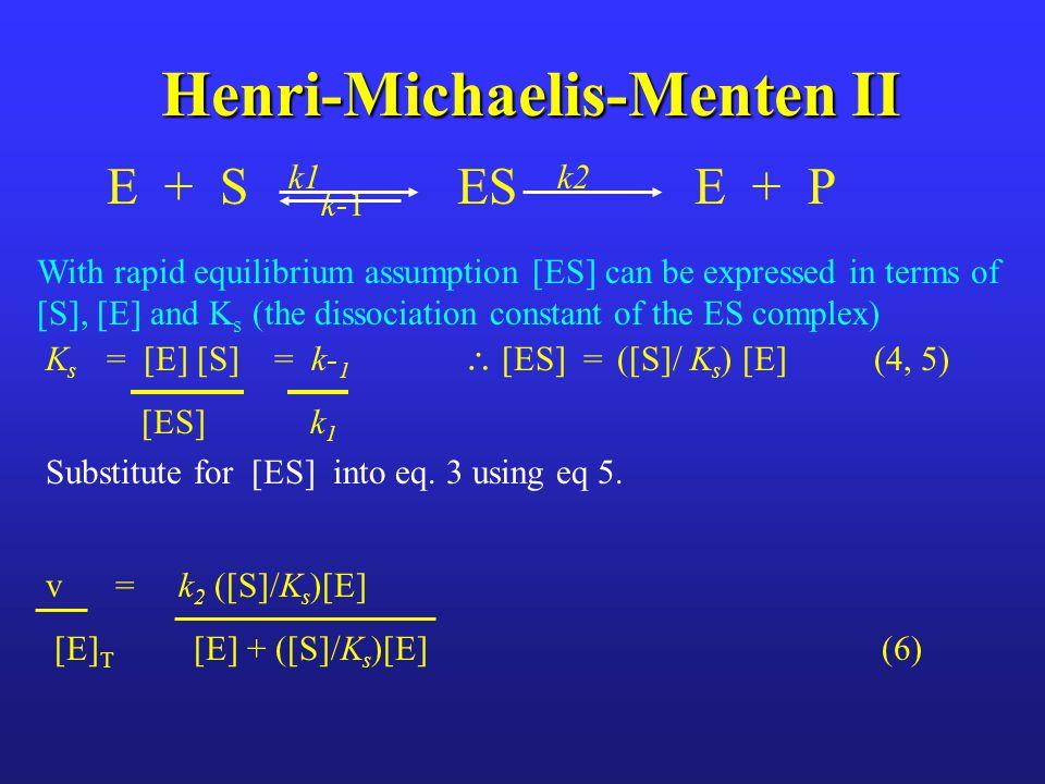 Henri-Michaelis-Menten II