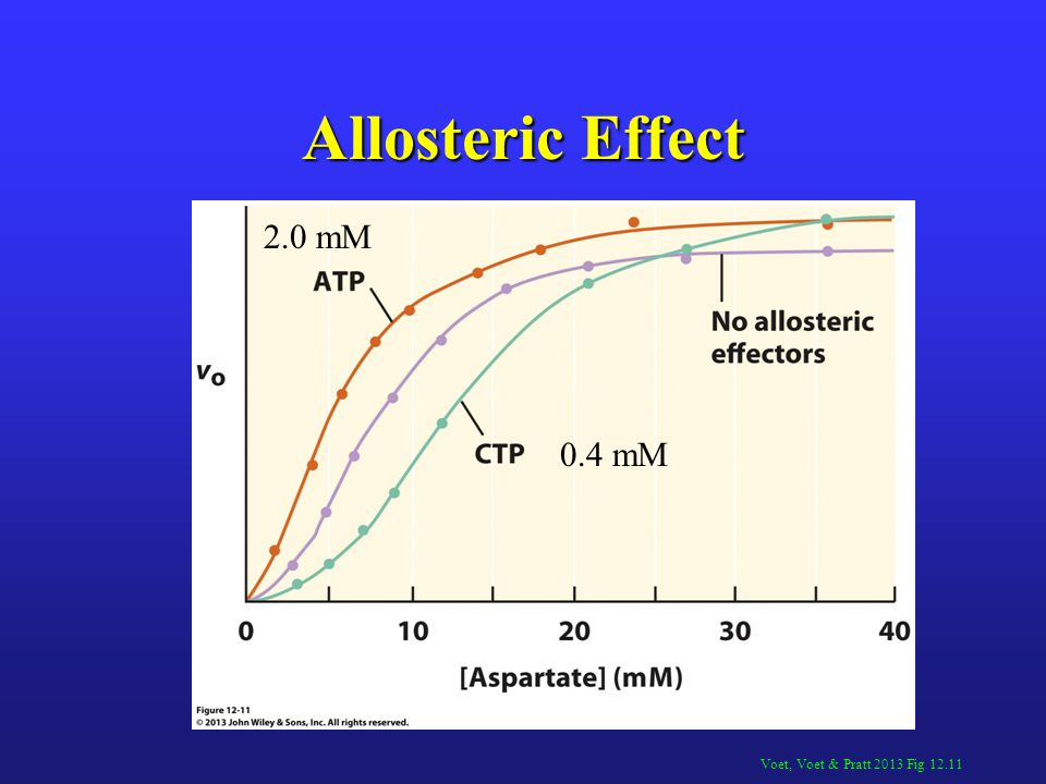 Allosteric Effect 2.0 mM 0.4 mM Voet, Voet & Pratt 2013 Fig 12.11
