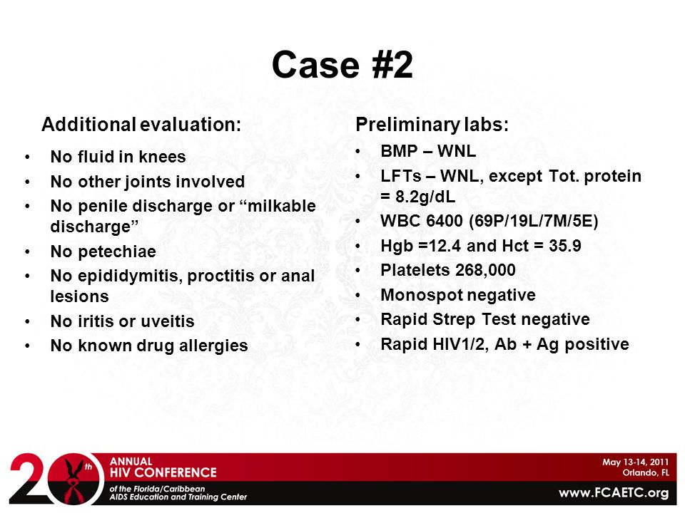 Case #2 Additional evaluation: Preliminary labs: BMP – WNL
