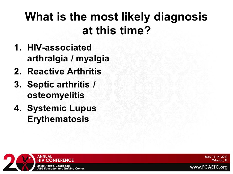 What is the most likely diagnosis at this time