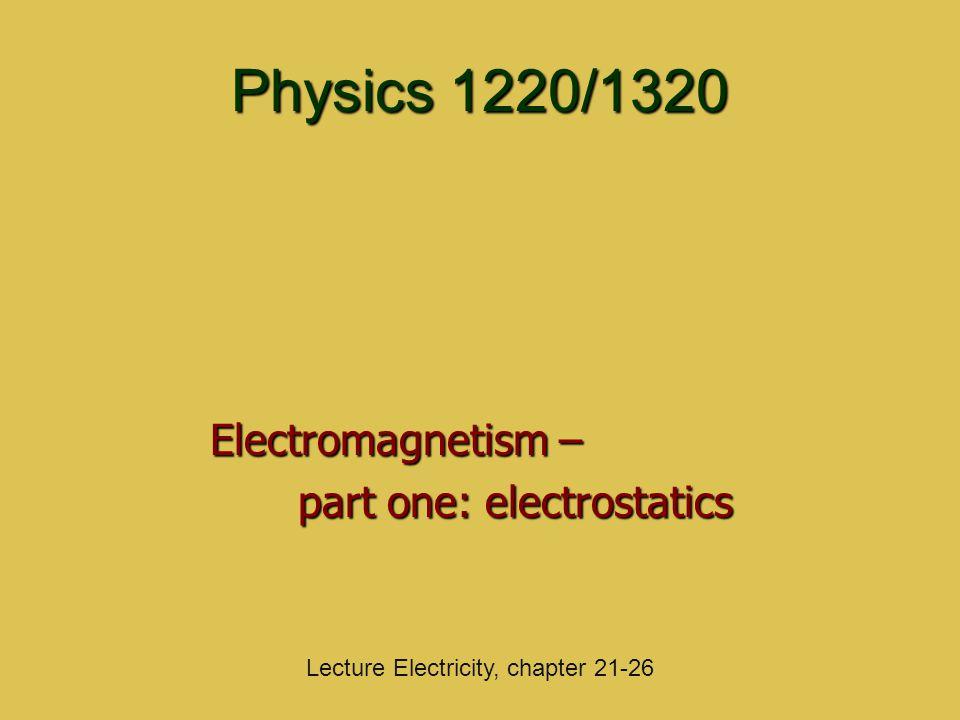 Electromagnetism – part one: electrostatics