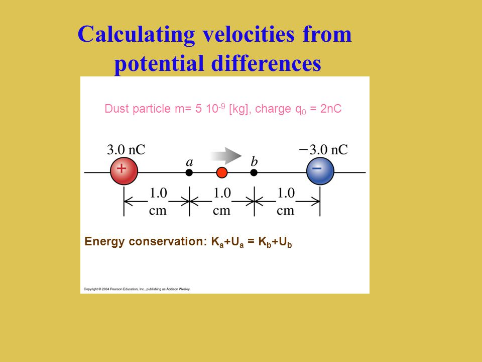 Calculating velocities from potential differences