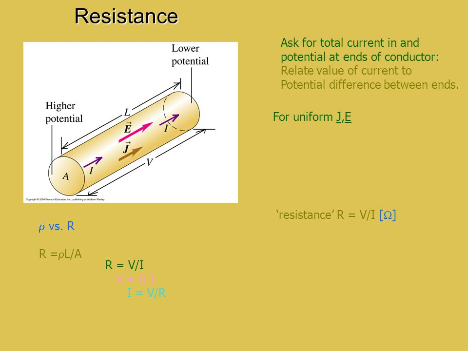 Resistance Ask for total current in and