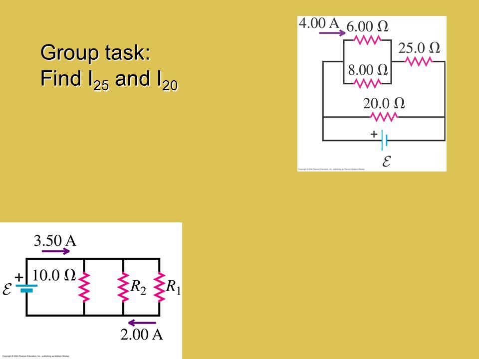 Group task: Find I25 and I20